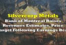 Silvercorp Metals: Bank of Montreal Raises Revenues Estimates, Price Target Following Earnings Beat