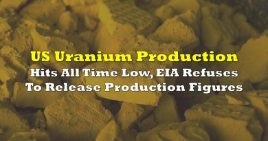 US Uranium Production Hits All Time Low, EIA Refuses To Release Production Figures