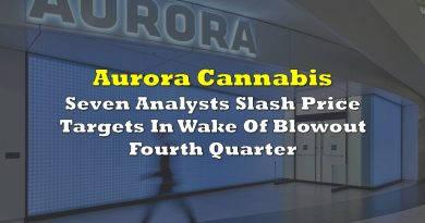 Aurora Cannabis: Seven Analysts Slash Price Targets In Wake Of Blowout Fourth Quarter