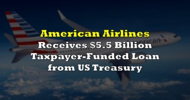 American Airlines Receives $5.5 Billion Taxpayer-Funded Loan from US Treasury as Air Travel Demand Remains Subdued