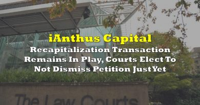 iAnthus' Recapitalization Transaction Remains In Play, Courts Elect To Not Dismiss Petition Just Yet