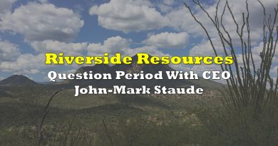 Question Period With Riverside Resources' John-Mark Staude