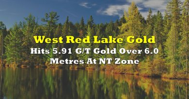 West Red Lake Hits 5.91 G/T Gold Over 6.0 Metres At NT Zone