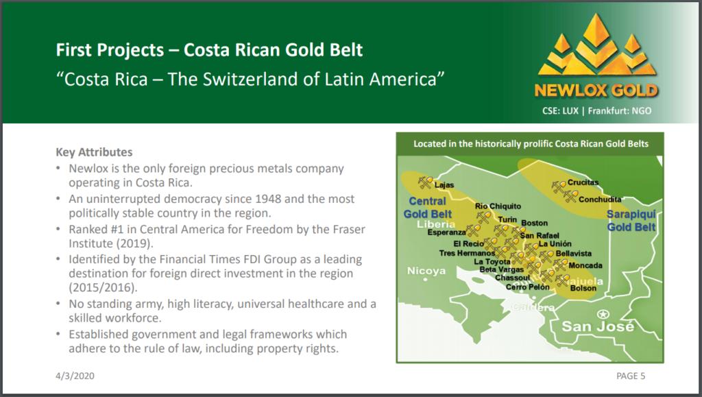 Mining in Costa Rica
