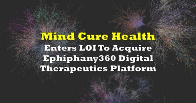 Mind Cure Enters LOI To Acquire Ephiphany360 Digital Therapeutics Platform