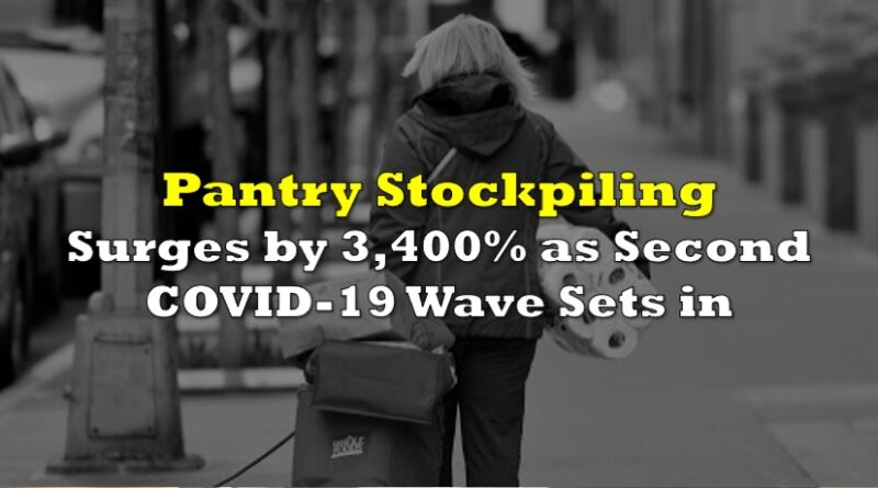 Pantry Stockpiling Surges 3,400% As Second COVID-19 Wave Sets In