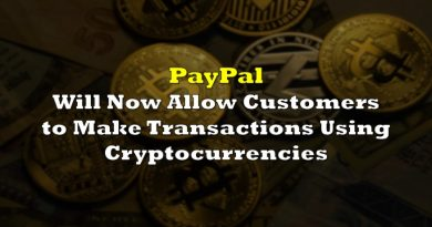 PayPal Will Now Allow Customers to Make Transactions Using Cryptocurreny