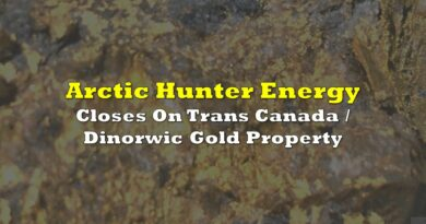 Arctic Hunter Closes On Trans Canada / Dinorwic Gold Property