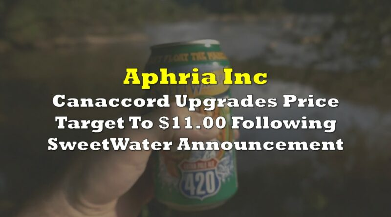 Aphria Canaccord Upgrades Price Target To 11 00 Following Sweetwater Transaction The Deep Dive