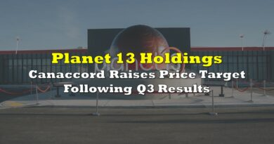 Planet 13: Canaccord Raises Price Target Following Q3 Results