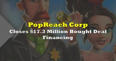 PopReach Closes $17.3 Million Bought Deal Financing