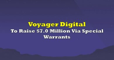 Voyager Digital To Raise $7.0 Million Via Special Warrants