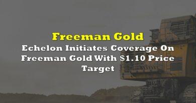 Echelon Initiates Coverage On Freeman Gold With $1.10 Price Target
