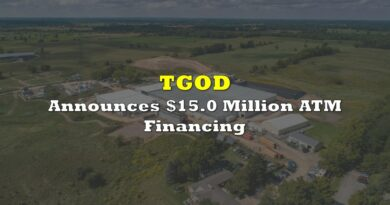 TGOD Announces $15.0 Million ATM Financing