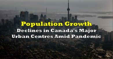 Population Growth Declines in Canada's Major Urban Centers Amid Pandemic