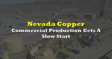 Nevada Copper: Commercial Production Gets A Slow Start