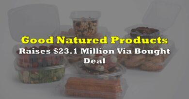 Good Natured Products Raises $23.1 Million Via Bought Deal