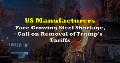 US Manufacturers Face Growing Steel Shortage, Call on Removal of Trump's Tariffs