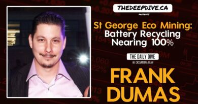 St George Eco Mining: Battery Recycling Nearing 100% – The Daily Dive feat Frank Dumas