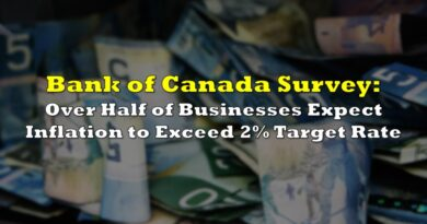 Bank of Canada Survey: Over Half of Businesses Expect Inflation to Exceed 2% Target Rate