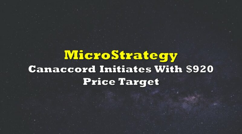 MicroStrategy: Canaccord Initiates With $920 Price Target