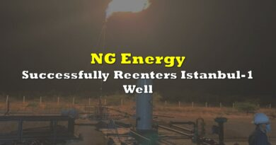 NG Energy Successfully Reenters Istanbul-1 Well