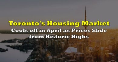 Toronto's Housing Market Cools Off In April As Prices Slide From Historic Highs