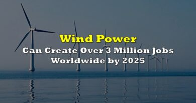 Wind Power Can Create Over 3 Million Jobs WorldWide by 2025
