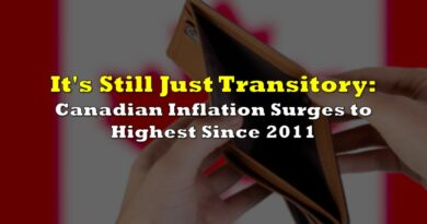 It's Still Just Transitory: Canadian Inflation Surges to Highest Since 2011