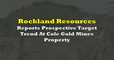 Rockland Resources Reports Prospective Target Trend At Cole Gold Mines Property
