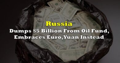 Russia Dumps $5 Billion From Oil Fund, Embraces Euro, Yuan Instead