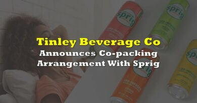Tinley Beverage Announces Co-packing Arrangement With Sprig