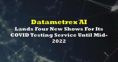 Datametrex AI Lands Four New Shows For Its COVID Testing Service Until Mid-2022