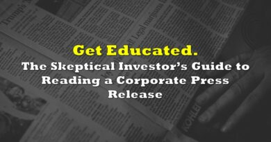 The Skeptical Investor's Guide to Reading a Corporate Press Release
