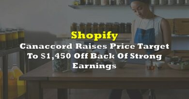 Shopify: Canaccord Raises Price Target To $1,450 Off Back Of Strong Earnings
