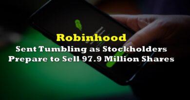 Robinhood Sent Tumbling as Stockholders Prepare to Sell 97.9 Million Shares