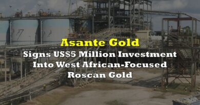 Asante Gold Signs US$5 Million Investment Into West African-Focused Roscan Gold