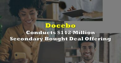 Docebo Conducts $112 Million Secondary Bought Deal Offering