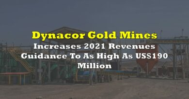 Dynacor Increases 2021 Revenues Guidance To As High As US$190 Million