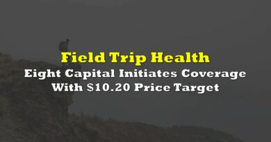 Eight Capital Initiates Coverage On Field Trip Health With $10.20 Price Target