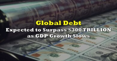 Global Debt Expected to Surpass $300 TRILLION and GDP Growth Slows