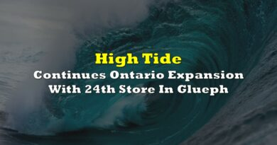 High Tide Continues Ontario Expansion With 24th Store In Glueph