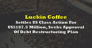 Luckin Coffee Settles US Class Action For US$187.5 Million, Seeks Approval Of Debt Restructuring Plan