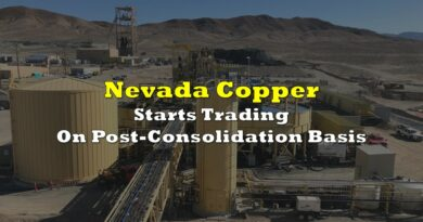 Nevada Copper Starts Trading On Post-Consolidation Basis