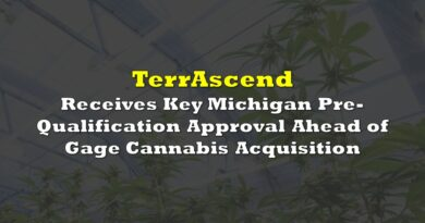 TerrAscend Receives Key Michigan Pre-Qualification Approval Ahead of Gage Cannabis Acquisition