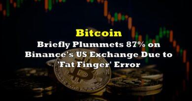 Bitcoin Briefly Plummets 87% on Binance's US Exchange Due to 'Fat Finger' Error