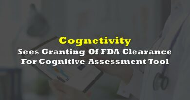 Cognetivity Neurosciences Sees Granting Of FDA Clearance For Cognitive Assessment Tool