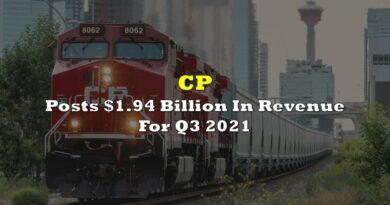 CP Posts $1.94 Billion In Revenue For Q3 2021