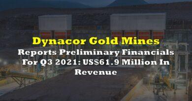 Dynacor Reports Preliminary Financials For Q3 2021: US$61.9 Million In Revenue