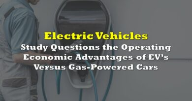 Study Questions the Operating Economic Advantages of Electric Vehicles Versus Gas-Powered Cars